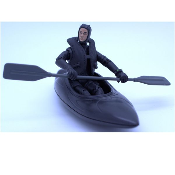 World PeaceKeepers Military Figure with Army style Canoe 3+ Years